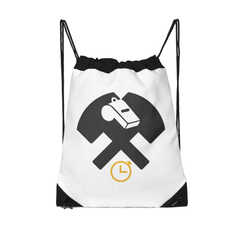 HCRD OFFICIALS Game Time Accessories Drawstring Bag Bag by Hammer City Roller Derby
