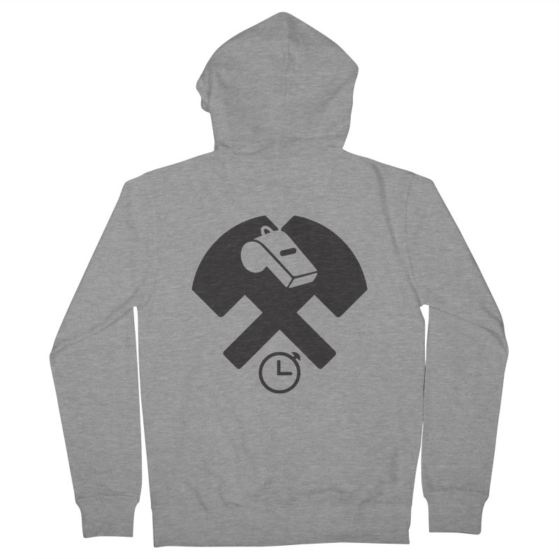 HCRD OFFICIALS Game Time Men's French Terry Zip-Up Hoody by Hammer City Roller Derby