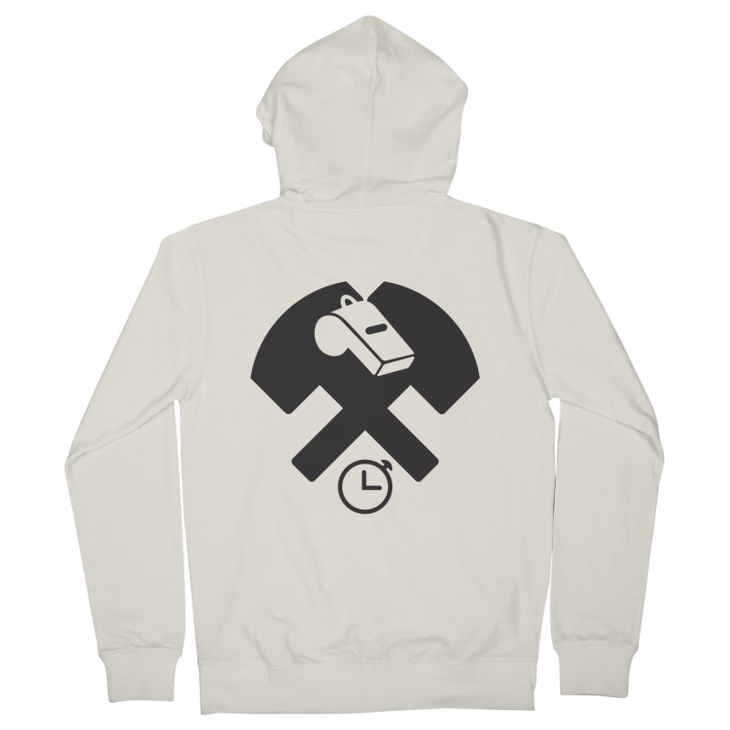 HCRD OFFICIALS Game Time Men's Zip-Up Hoody by Hammer City Roller Derby