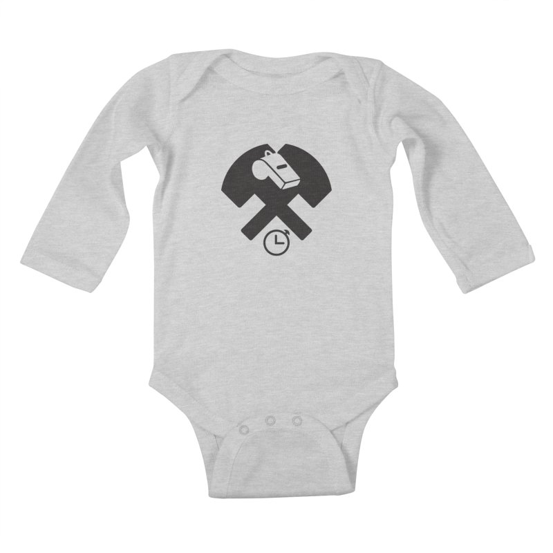 HCRD OFFICIALS Game Time Kids Baby Longsleeve Bodysuit by Hammer City Roller Derby