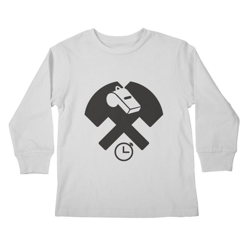 HCRD OFFICIALS Game Time Kids Longsleeve T-Shirt by Hammer City Roller Derby