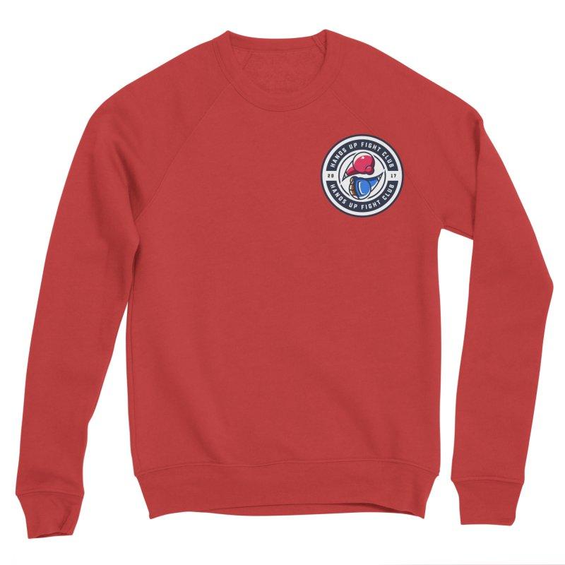 Hands Up Fight Club Classic Logo Men's Sponge Fleece Sweatshirt by Hands Up Fight Club