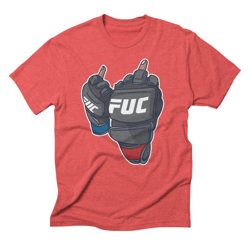 2 Big Birds in Men's Triblend T-Shirt Chili Red by Hands Up Fight Club