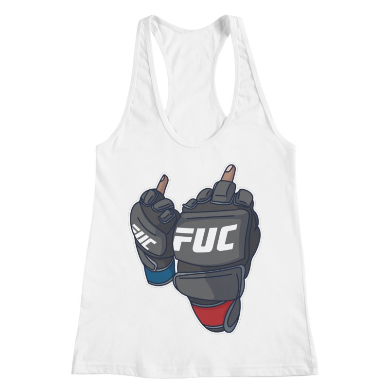 2 Big Birds Women's Racerback Tank by Hands Up Fight Club