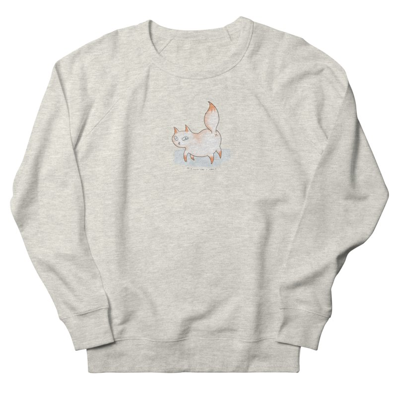 Do I look like i care? (Cat butt) Men's French Terry Sweatshirt by Hannah Draws