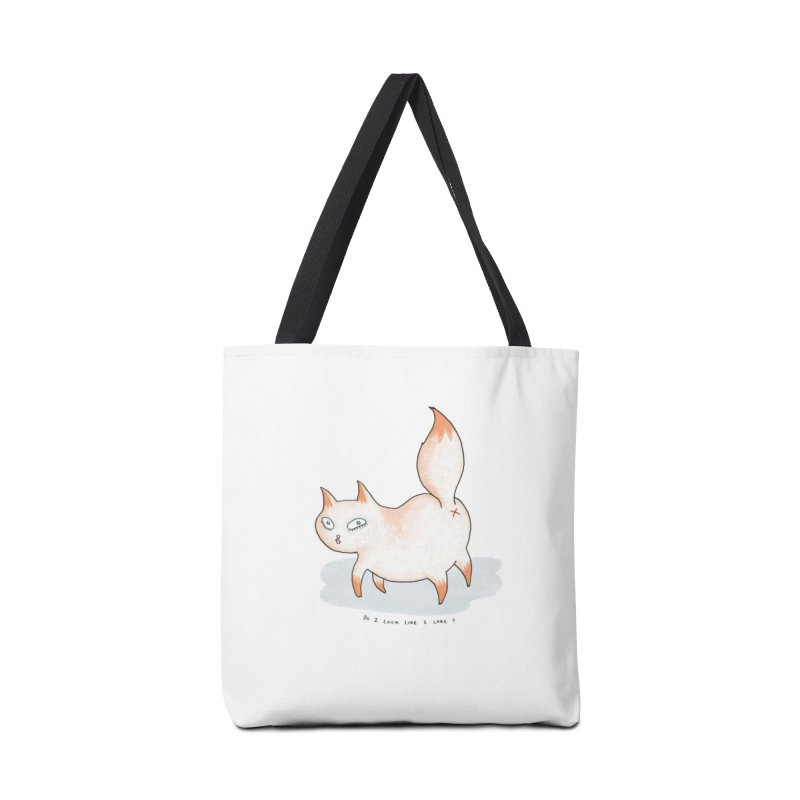 Do I look like i care? (Cat butt) Accessories Tote Bag Bag by Hannah Draws