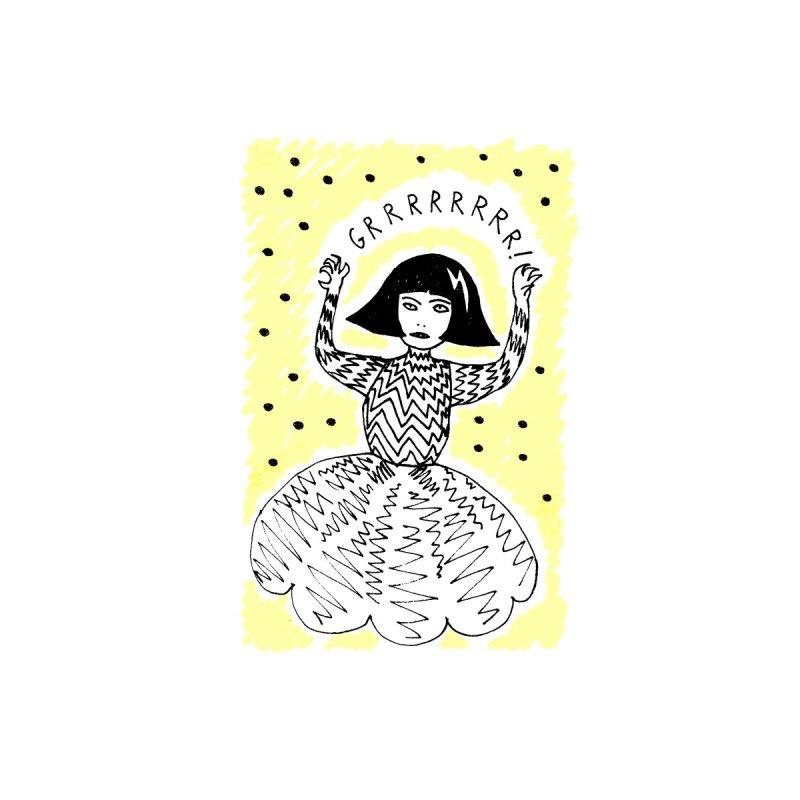 GRRR Girl - Yellow by Hannah Draws