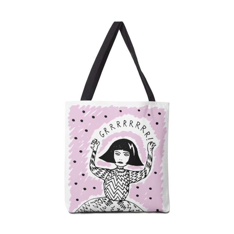 GRRR Girl - Pink Accessories Tote Bag Bag by Hannah Draws