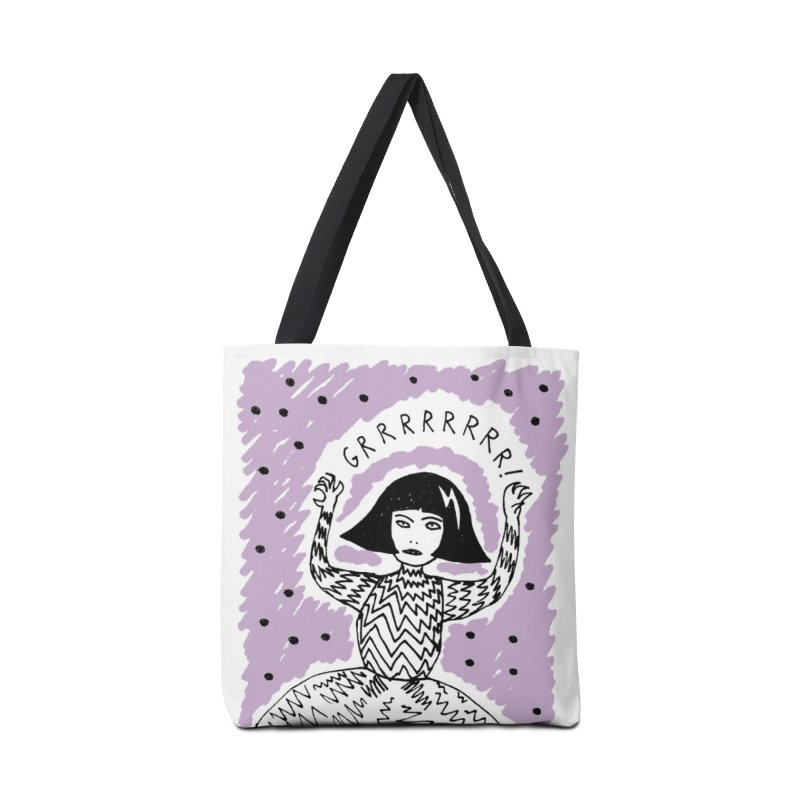 GRRR Girl - Lilac in Tote Bag by Hannah Draws