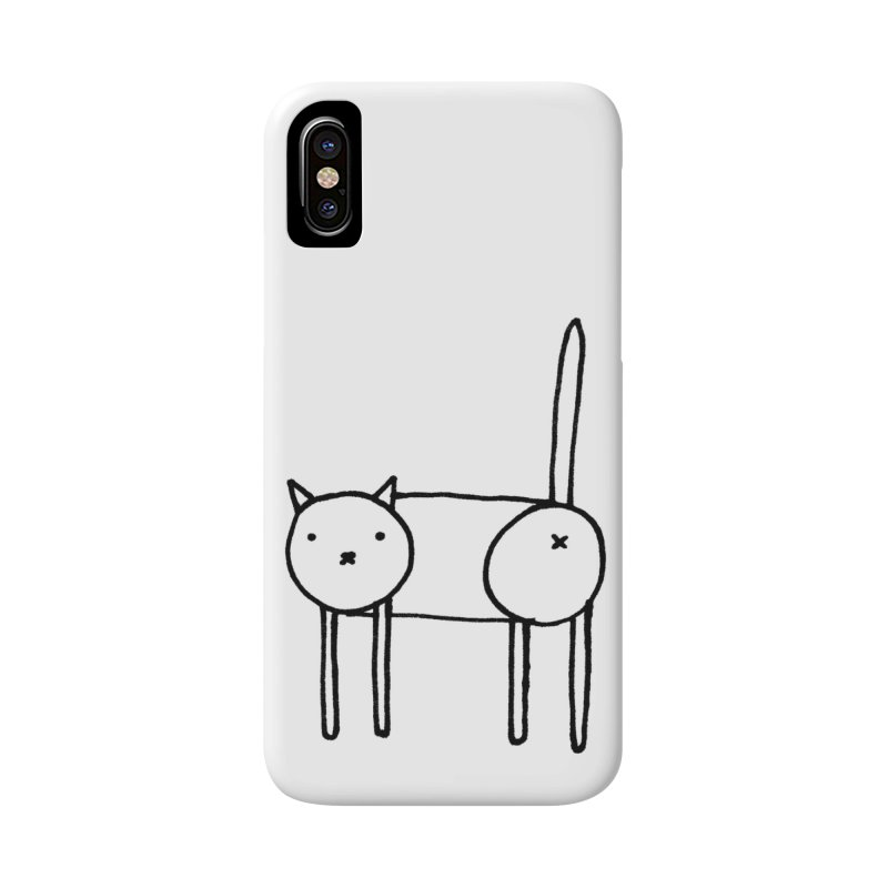 Cat doodle (butt) in iPhone X / XS Phone Case Slim by Hannah Draws