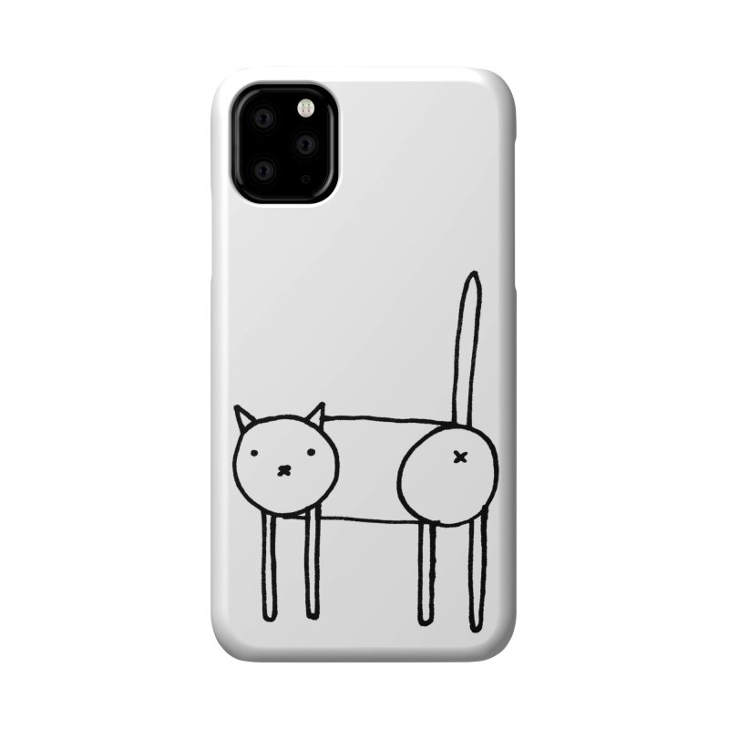 Cat doodle (butt) Accessories Phone Case by Hannah Draws
