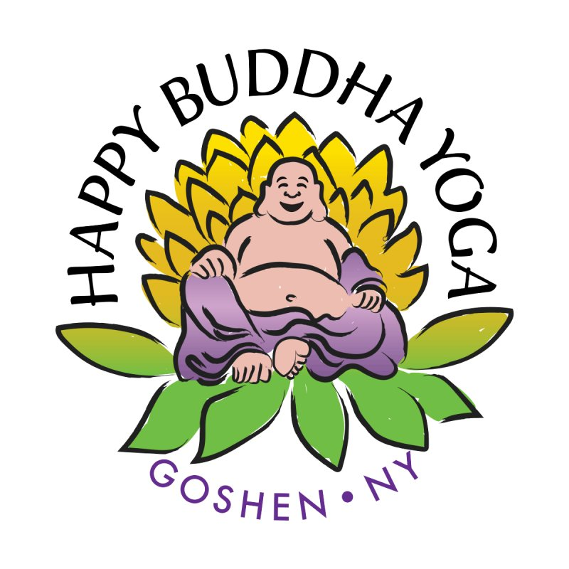 Happy Buddha Yoga Color Logo Women's Scoop Neck by HappyBuddhaYoga's Artist Shop