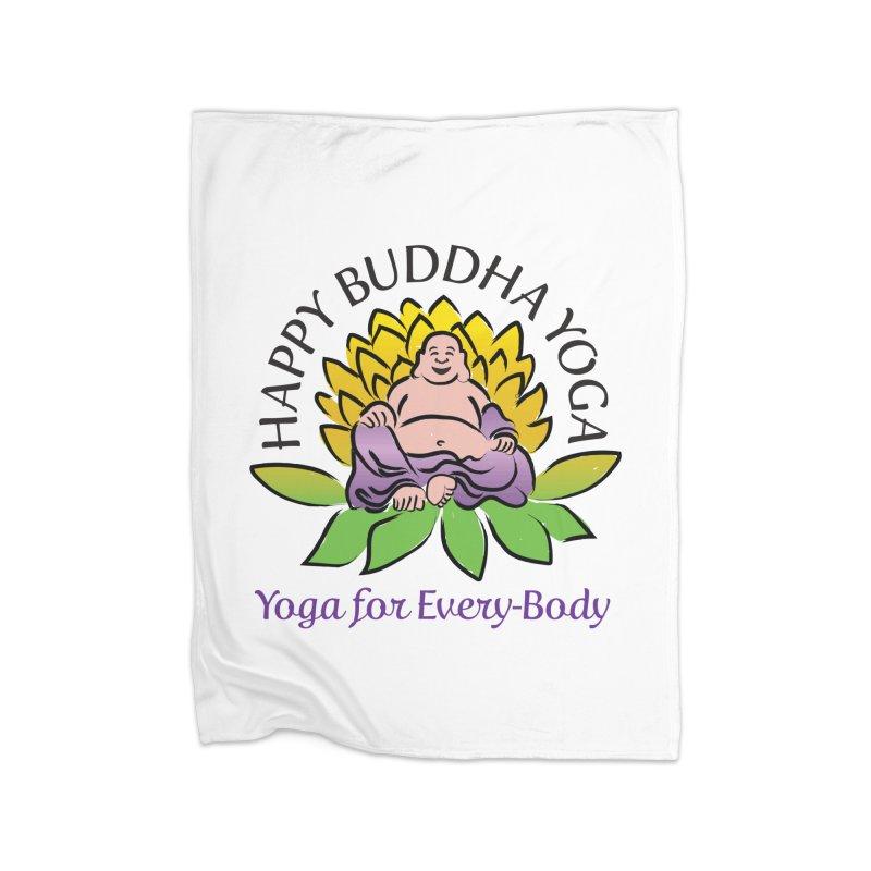 Happy Buddha Yoga Color Logo Home Blanket by HappyBuddhaYoga's Artist Shop