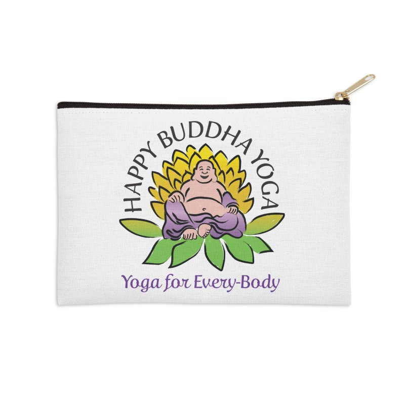 Happy Buddha Yoga Color Logo Accessories Zip Pouch by HappyBuddhaYoga's Artist Shop