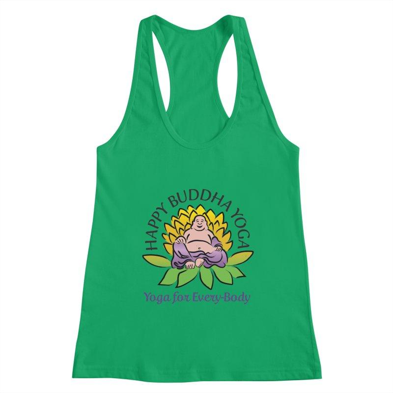Happy Buddha Yoga Color Logo Women's Tank by HappyBuddhaYoga's Artist Shop