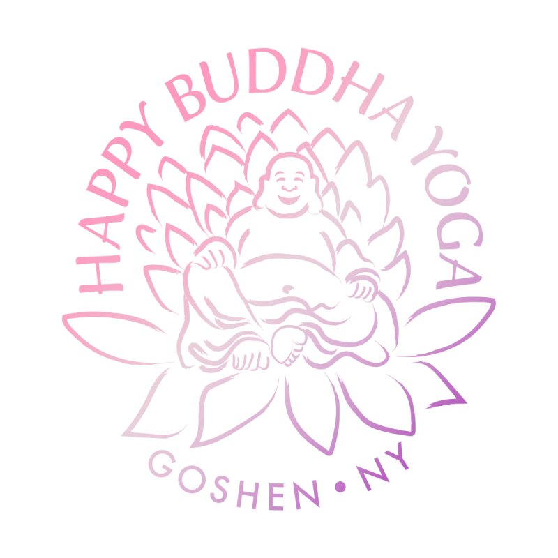 Happy Buddha Yoga Pink/Purple Women's Scoop Neck by HappyBuddhaYoga's Artist Shop