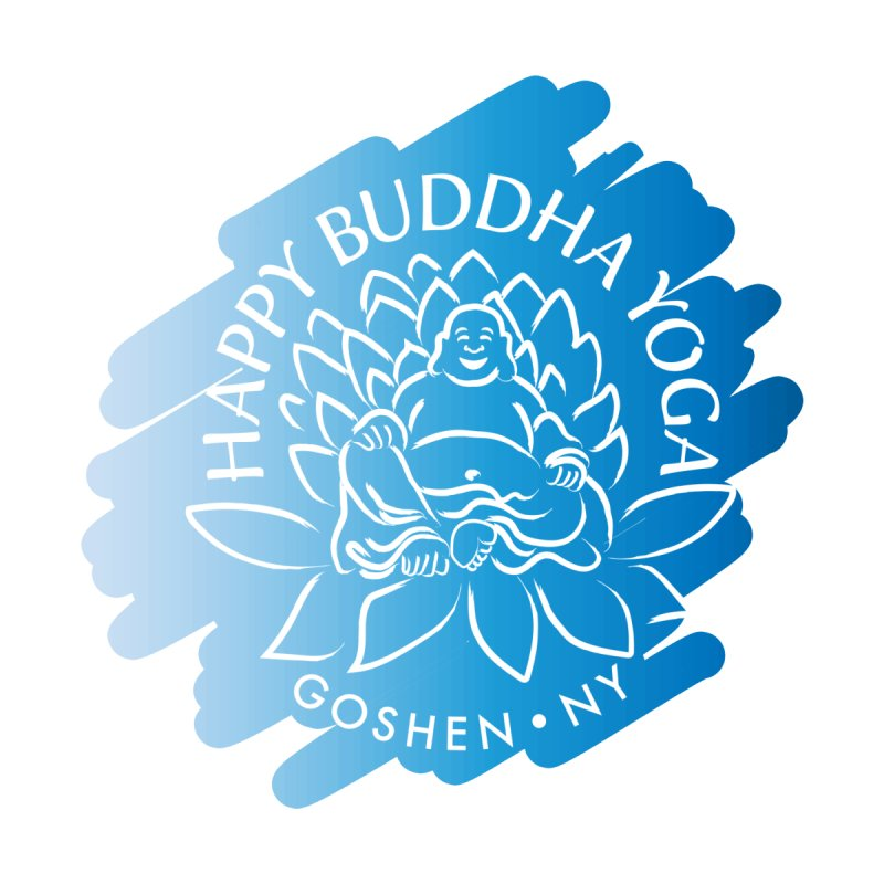 Happy Buddha Yoga Blue Swash Logo Accessories Notebook by HappyBuddhaYoga's Artist Shop