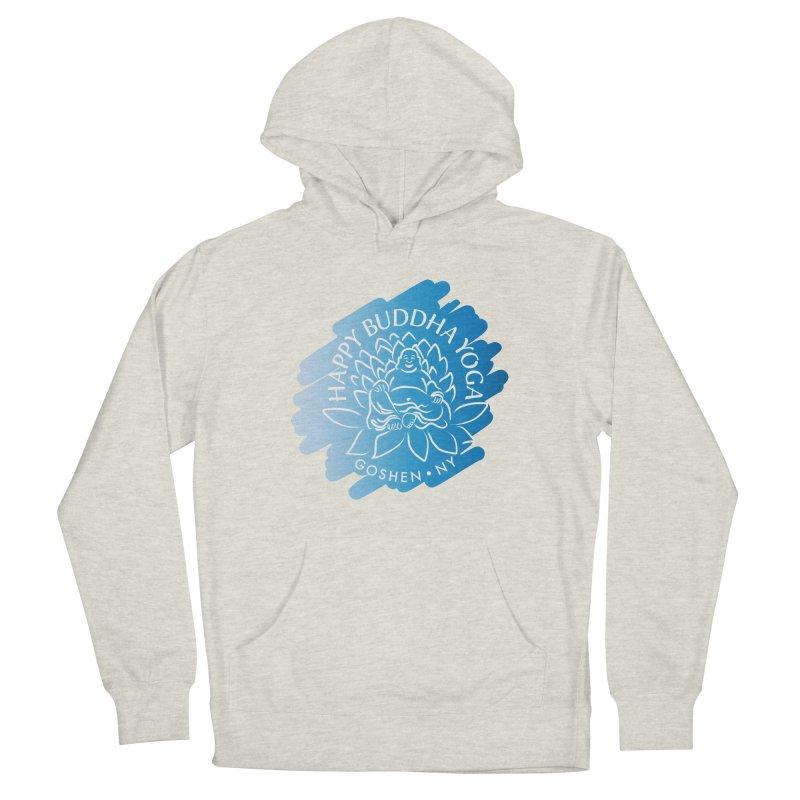 Happy Buddha Yoga Blue Swash Logo Women's Pullover Hoody by HappyBuddhaYoga's Artist Shop