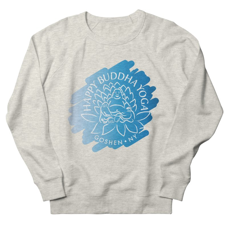 Happy Buddha Yoga Blue Swash Logo Women's Sweatshirt by HappyBuddhaYoga's Artist Shop
