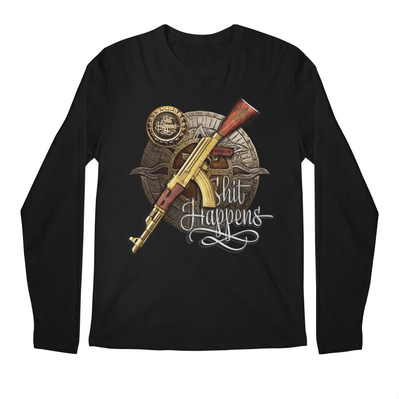 Shit Happens Men's Longsleeve T-Shirt by HappyRonin's Artist Shop