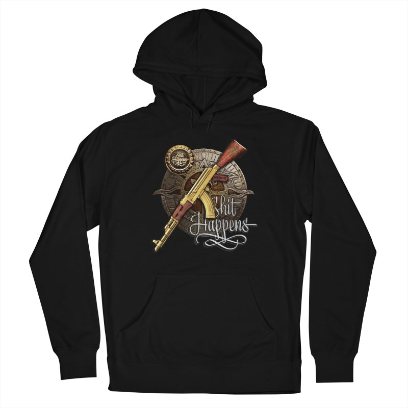 Shit Happens Men's Pullover Hoody by HappyRonin's Artist Shop