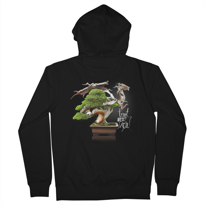 Bonsai Dragon Men's Zip-Up Hoody by HappyRonin's Artist Shop