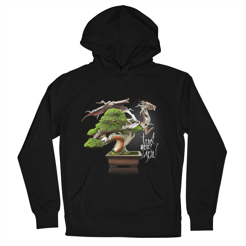 Bonsai Dragon Men's French Terry Pullover Hoody by HappyRonin's Artist Shop