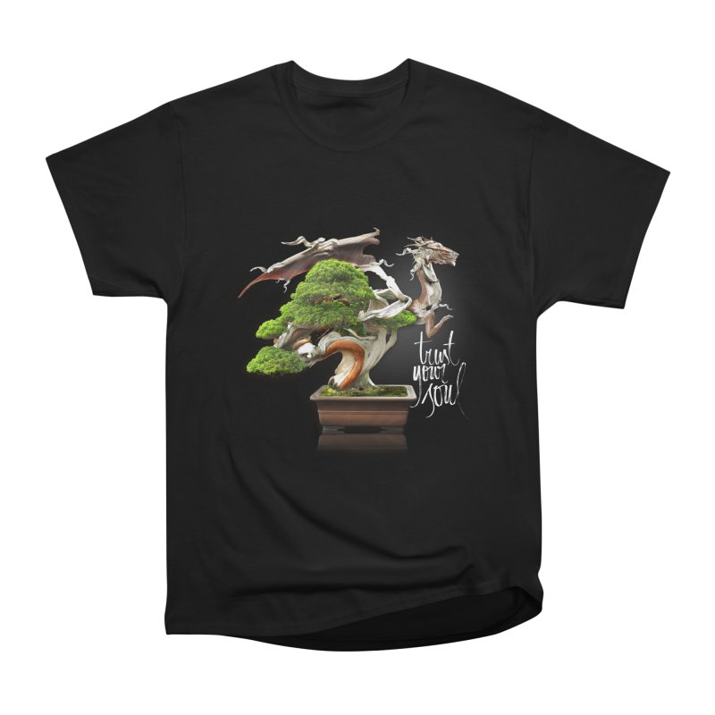 Bonsai Dragon Men's Heavyweight T-Shirt by HappyRonin's Artist Shop