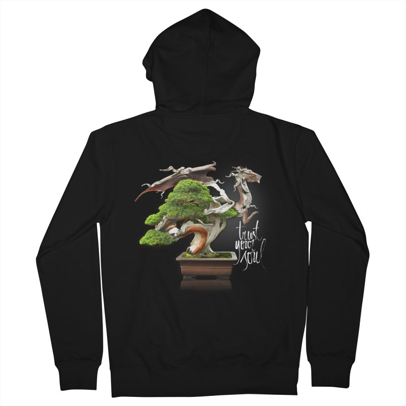 Bonsai Dragon Men's French Terry Zip-Up Hoody by HappyRonin's Artist Shop