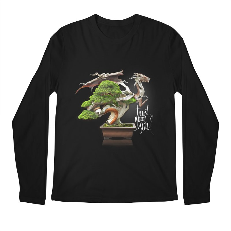 Bonsai Dragon Men's Regular Longsleeve T-Shirt by HappyRonin's Artist Shop