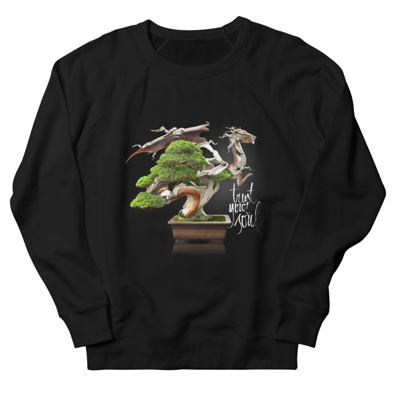 Bonsai Dragon Men's French Terry Sweatshirt by HappyRonin's Artist Shop