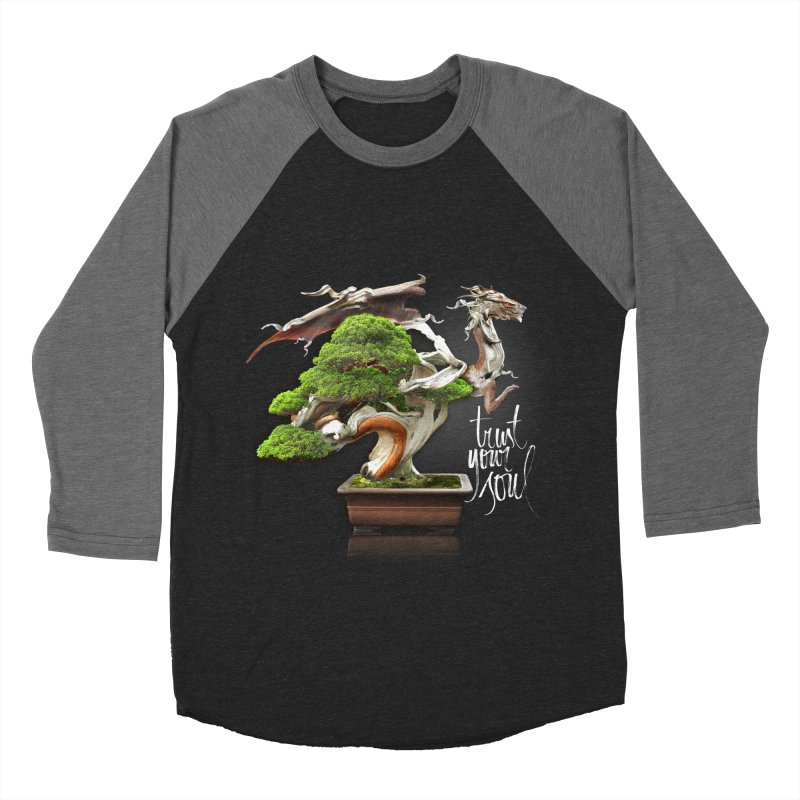 Bonsai Dragon Men's Baseball Triblend T-Shirt by HappyRonin's Artist Shop