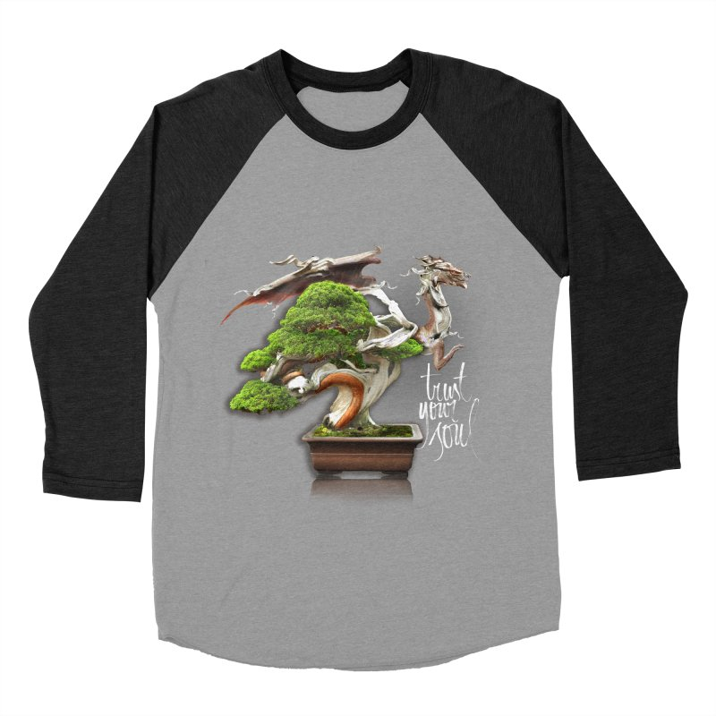 Bonsai Dragon Men's Baseball Triblend Longsleeve T-Shirt by HappyRonin's Artist Shop