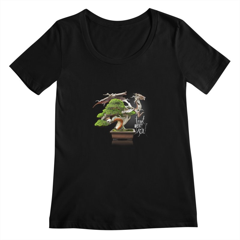 Bonsai Dragon Women's Scoopneck by HappyRonin's Artist Shop