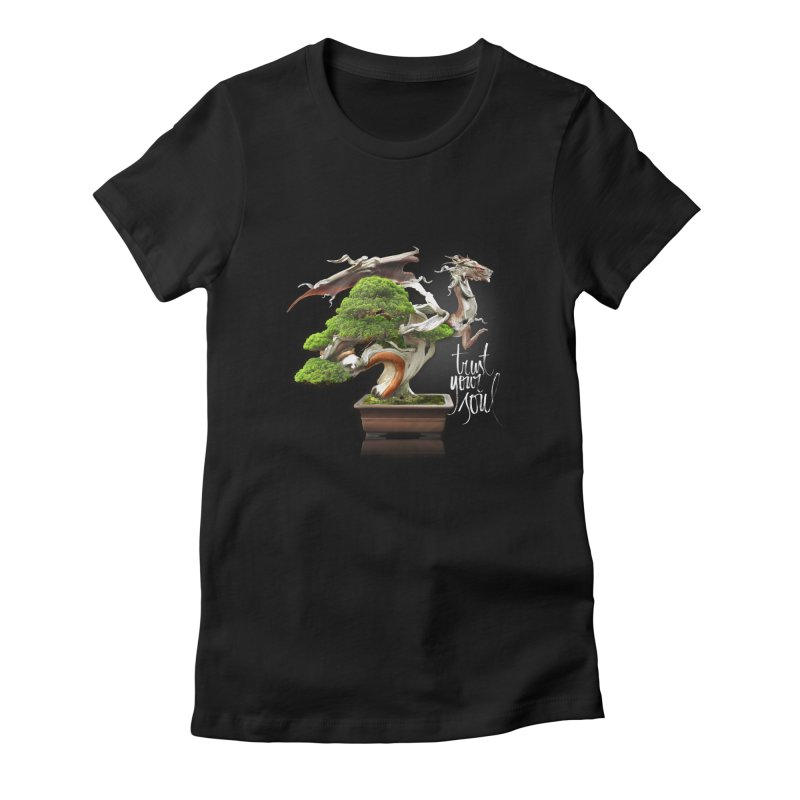 Bonsai Dragon Women's Fitted T-Shirt by HappyRonin's Artist Shop