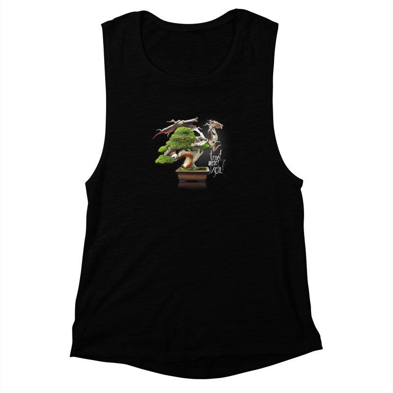 Bonsai Dragon Women's Muscle Tank by HappyRonin's Artist Shop
