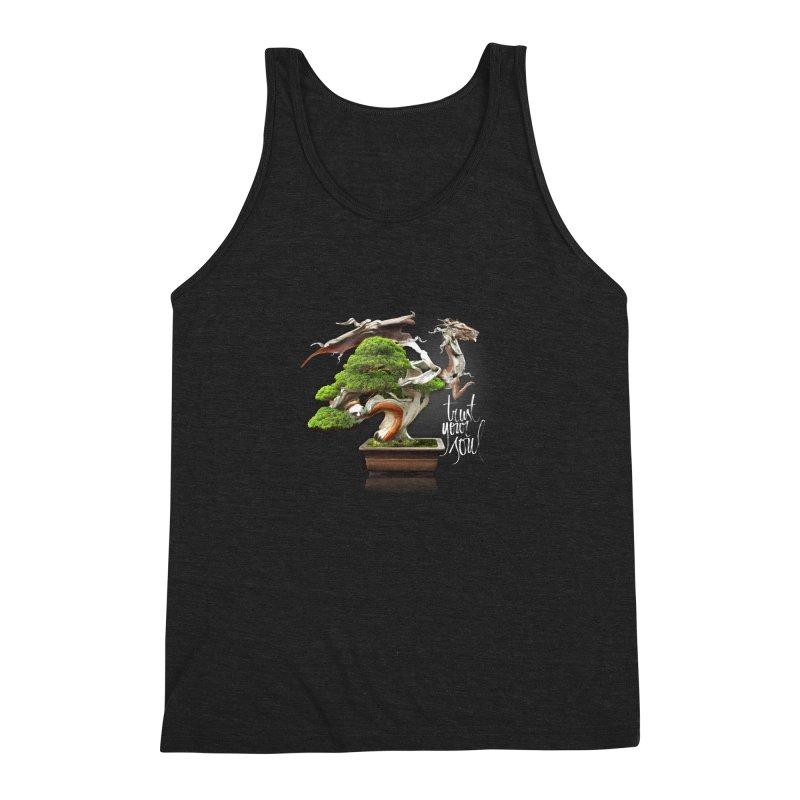 Bonsai Dragon Men's Triblend Tank by HappyRonin's Artist Shop