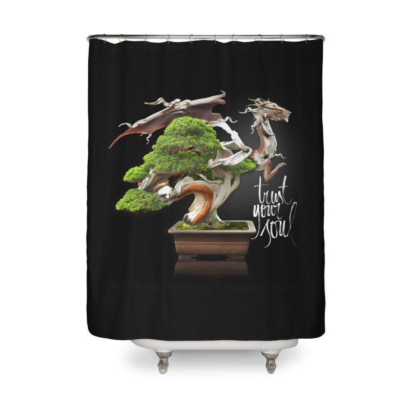 Bonsai Dragon Home Shower Curtain by HappyRonin's Artist Shop