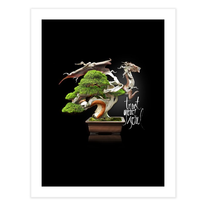 Bonsai Dragon Home Fine Art Print by HappyRonin's Artist Shop
