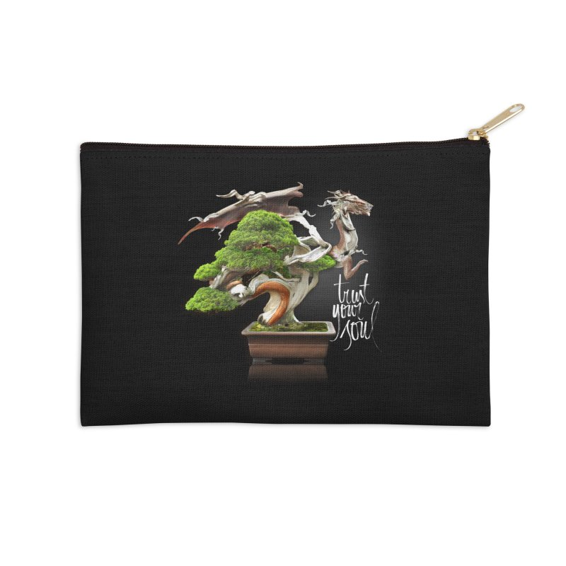 Bonsai Dragon Accessories Zip Pouch by HappyRonin's Artist Shop