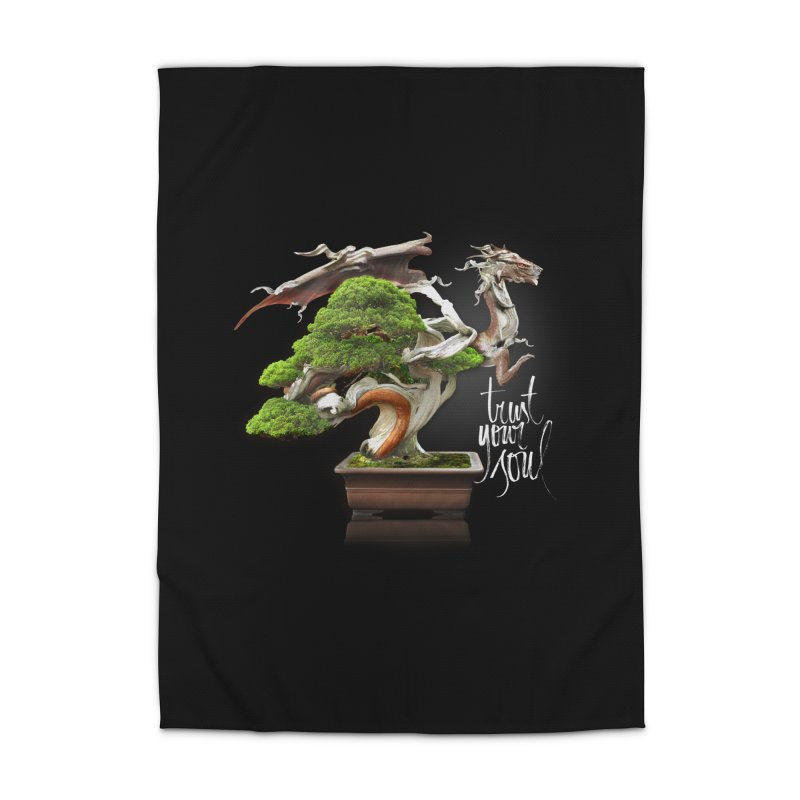 Bonsai Dragon Home Rug by HappyRonin's Artist Shop