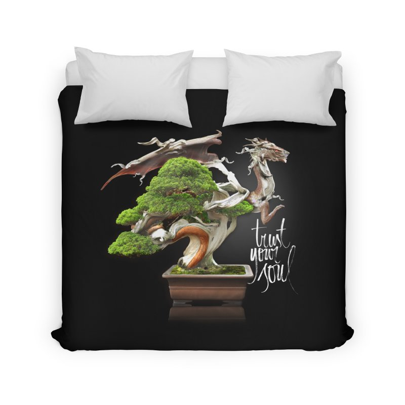 Bonsai Dragon Home Duvet by HappyRonin's Artist Shop