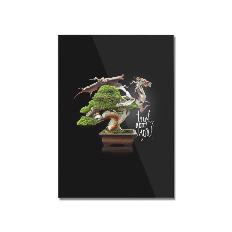 Bonsai Dragon Home Mounted Acrylic Print by HappyRonin's Artist Shop