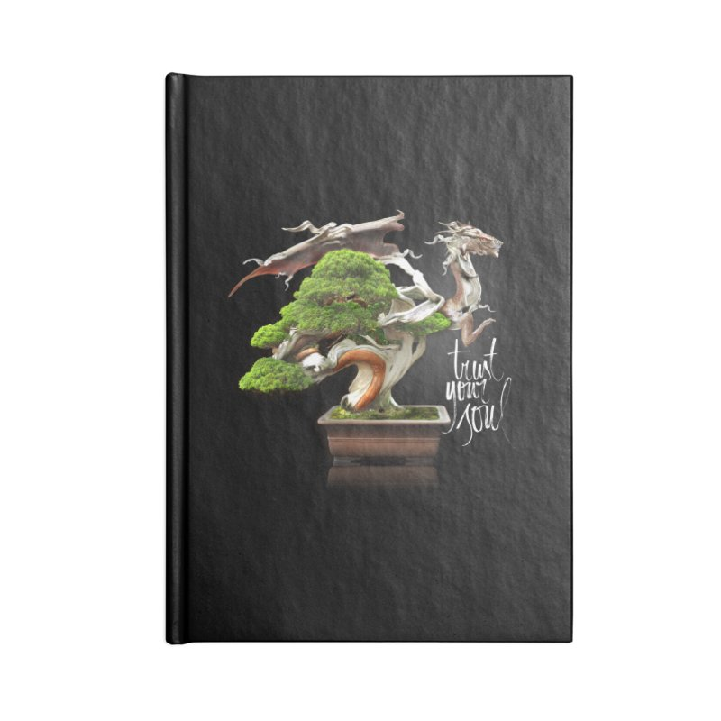 Bonsai Dragon Accessories Lined Journal Notebook by HappyRonin's Artist Shop
