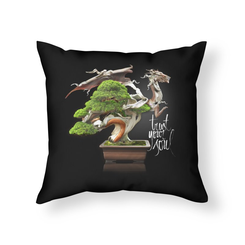 Bonsai Dragon Home Throw Pillow by HappyRonin's Artist Shop
