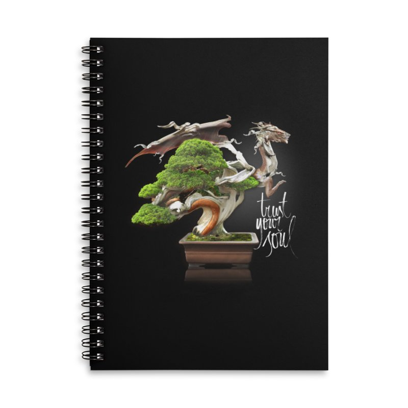 Bonsai Dragon Accessories Lined Spiral Notebook by HappyRonin's Artist Shop