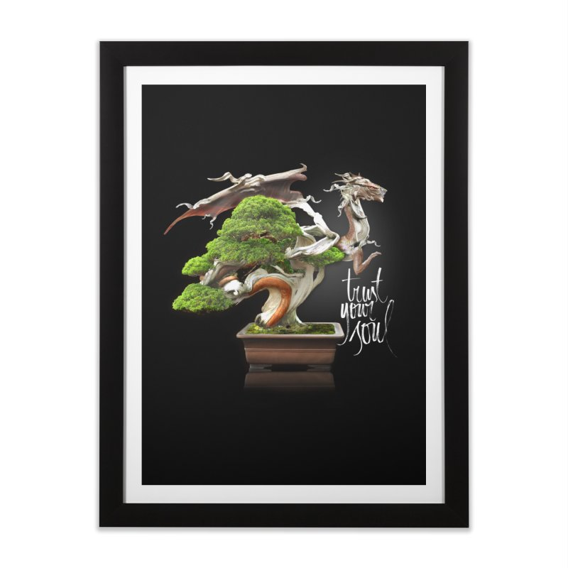 Bonsai Dragon Home Framed Fine Art Print by HappyRonin's Artist Shop