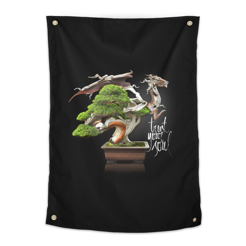 Bonsai Dragon Home Tapestry by HappyRonin's Artist Shop