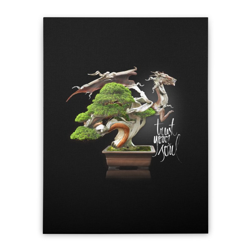Bonsai Dragon Home Stretched Canvas by HappyRonin's Artist Shop