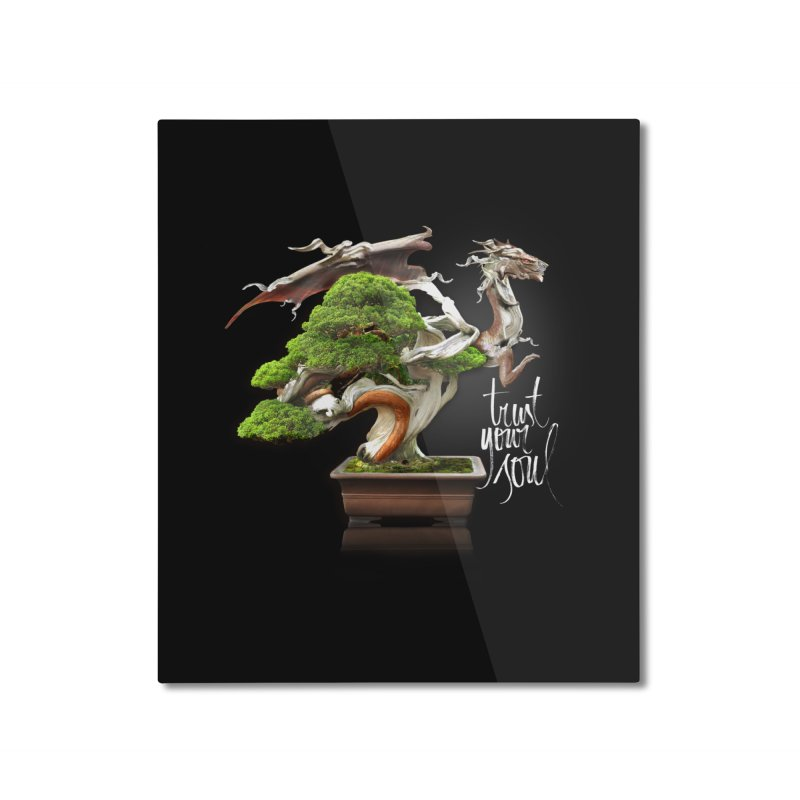 Bonsai Dragon Home Mounted Aluminum Print by HappyRonin's Artist Shop